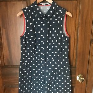 Boden Sleeveless Polka Dot Dress, 10